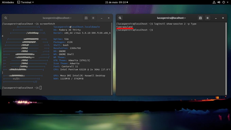Relatório] Testando o Fedora 30 com Gnome/Wayland/Intel — Comunidade